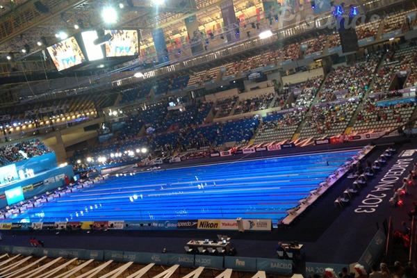 Projetos de piscinas ol mpicas feitos em 3d for Piscina 50 metros barcelona