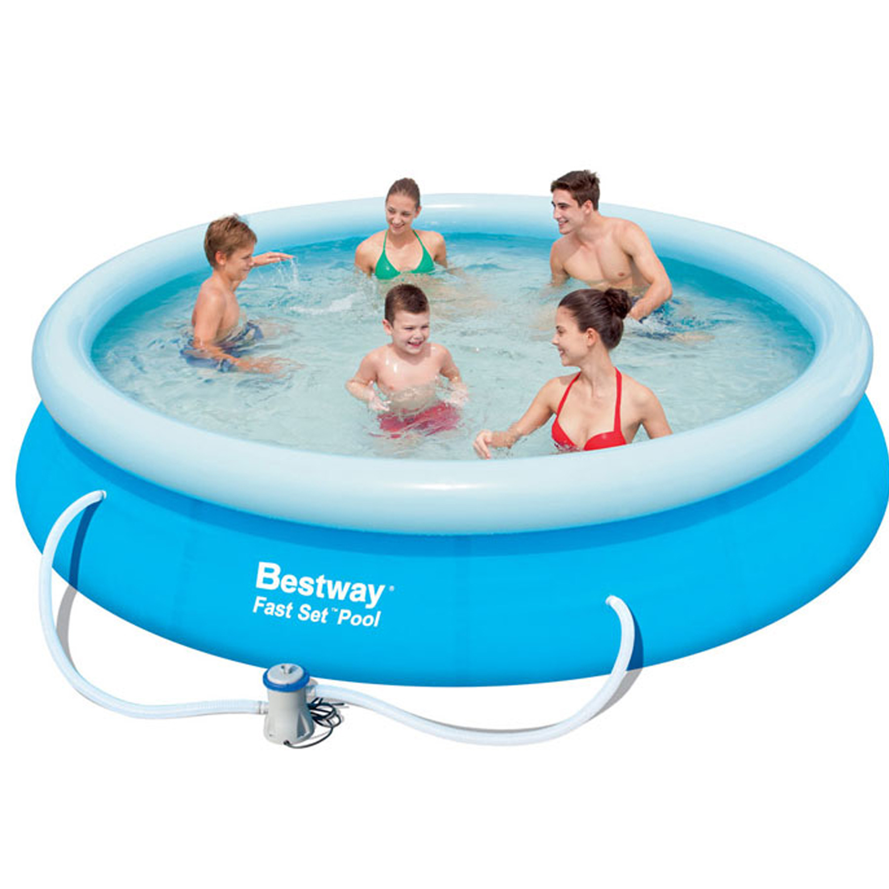 Todas as possibilidades de uma piscina de pl stico for Piscina inflable bestway