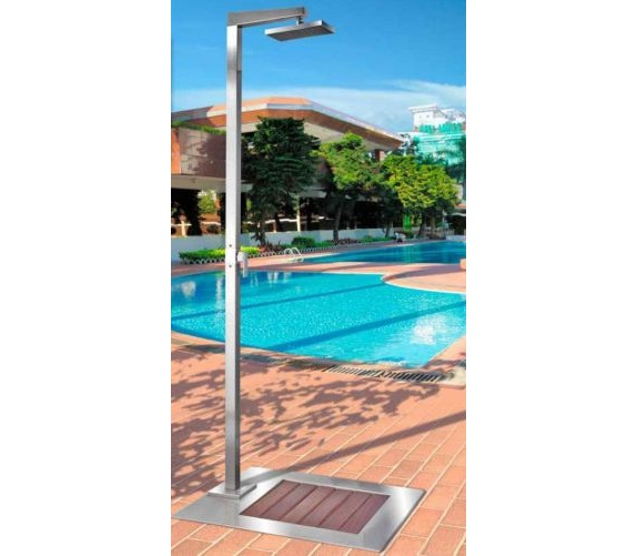 Entenda a import ncia das duchas para piscinas for Ducha piscina pared