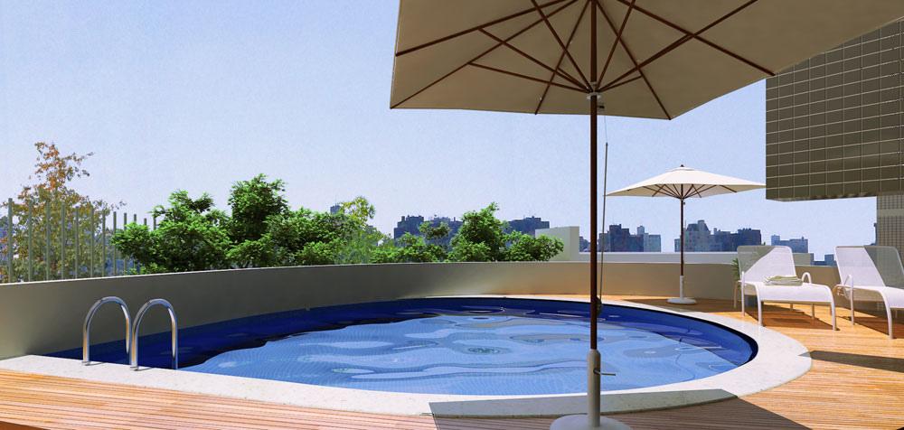 Piscina em cobertura cuidado com limite de peso for Cuidado de piscinas